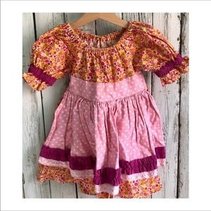 Vintage Peasant Apron Dress